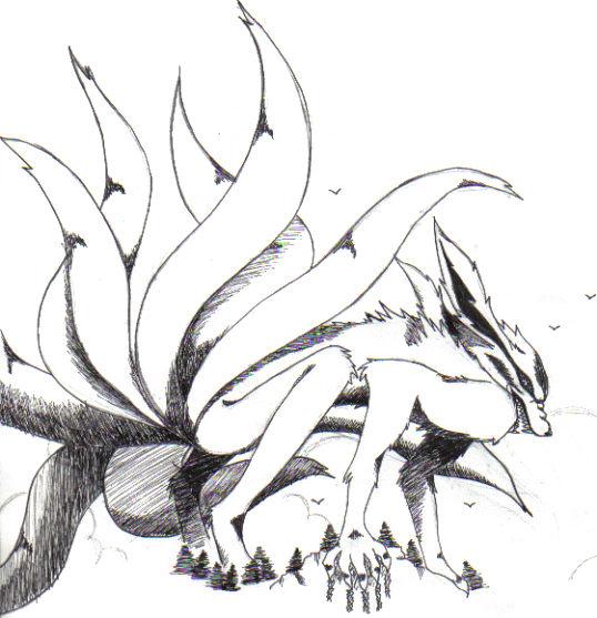NarutoNine Tailed Fox Kyuubi by UlquiorraLover4ver on DeviantArt