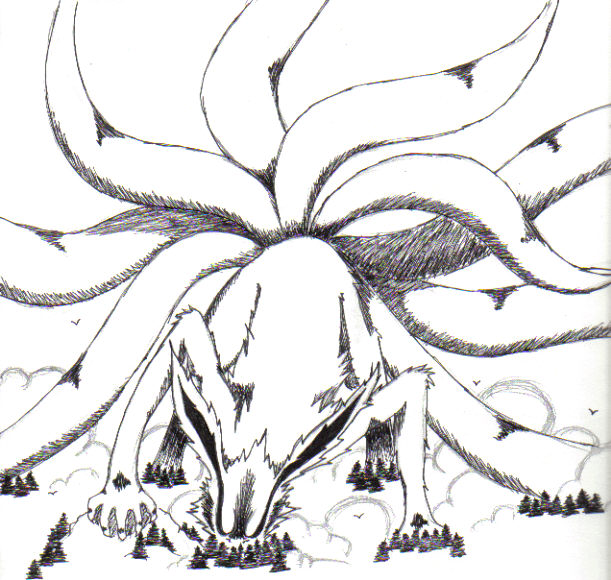 Nine Tailed Fox Naruto Drawing Image Gallery HCPR