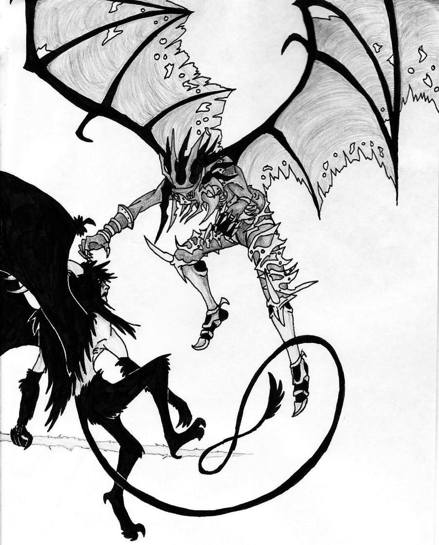 Chaos vs Murcielago by DragonlordRynn