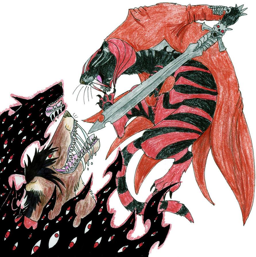 vampire vs demon by dragonlordrynn on deviantart