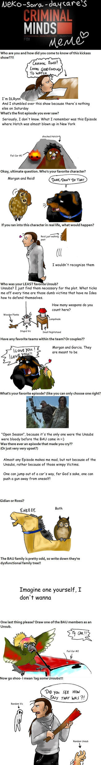 Criminal Minds Meme by DragonlordRynn on DeviantArt