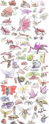 Insect Pokemon by DragonlordRynn