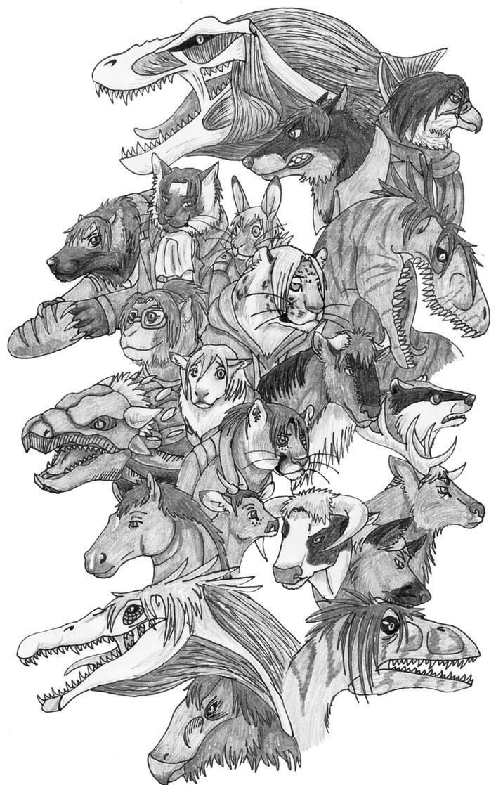Attack on Dinosaur by DragonlordRynn