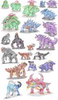 Therapsidian Pokemon by DragonlordRynn