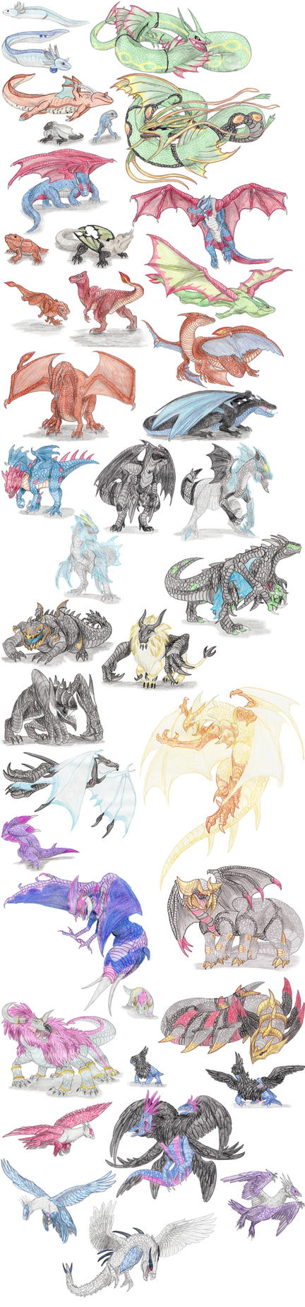 Dragon Pokemon by DragonlordRynn
