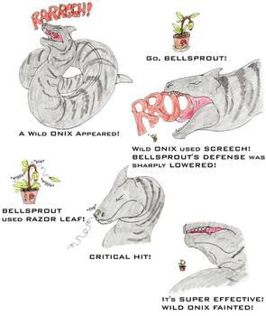 Bellsprout vs Onix