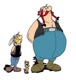 Hooligans Asterix and Obelix want to battle!