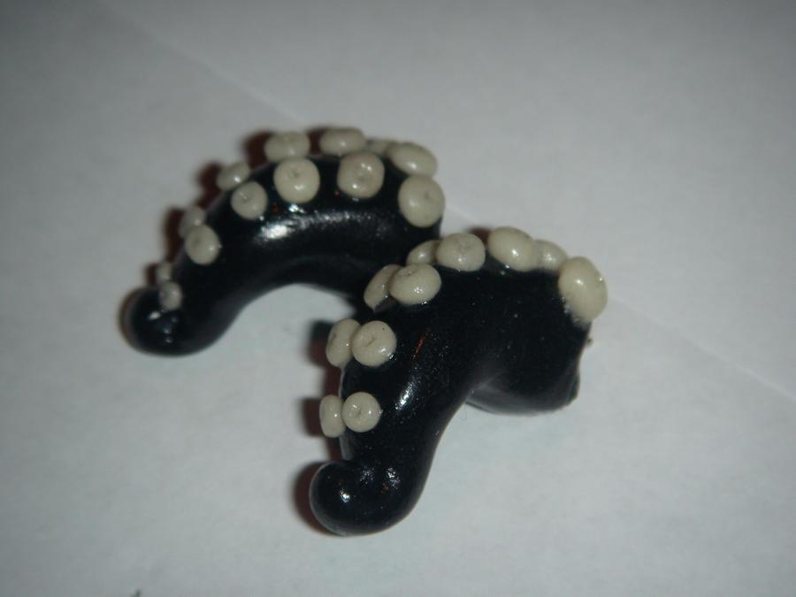 Octopus earings by XDtheBEASTXD