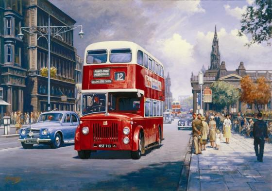 Endinburgh Princes Street 1959 - Amazing Street Paintings