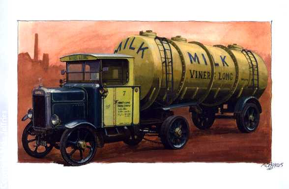 Scammell frameless tanker 1931 by Artistjeffries
