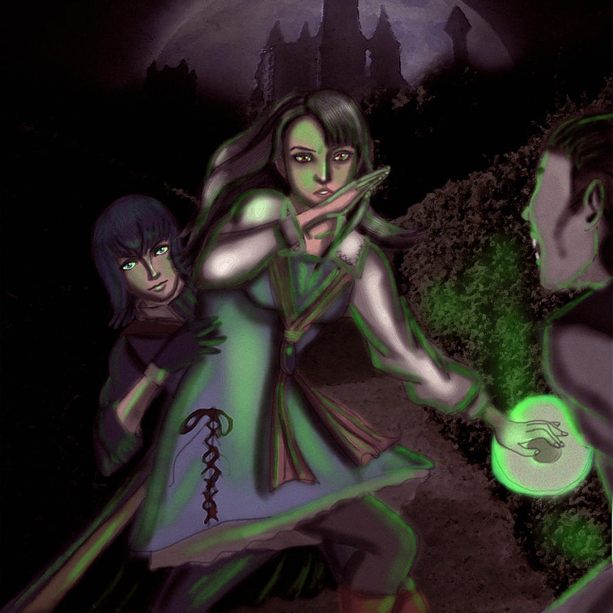 Castlevania: Carrie and Malus by JaqualM92