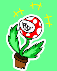 Piranha Plant Chuckle by RedJelloMix