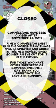 COMMISSIONS CLOSED 9/30/19