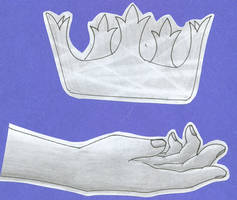 Crown and a hand...