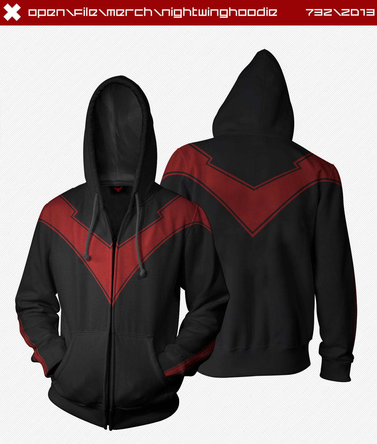 Nightwing Hoodie by seventhirtytwo