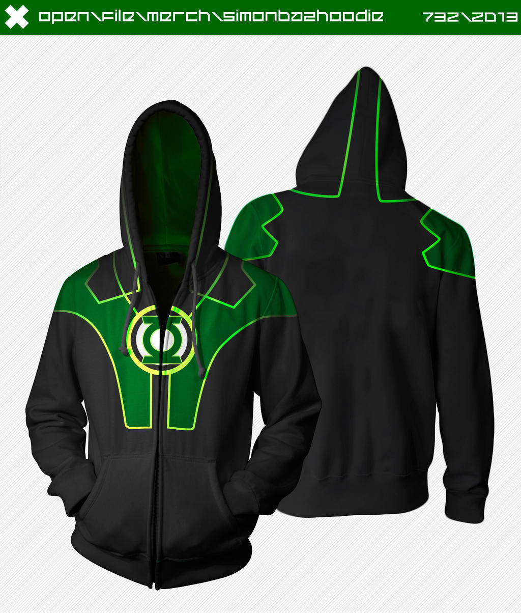Green Lantern Hoodie by seventhirtytwo