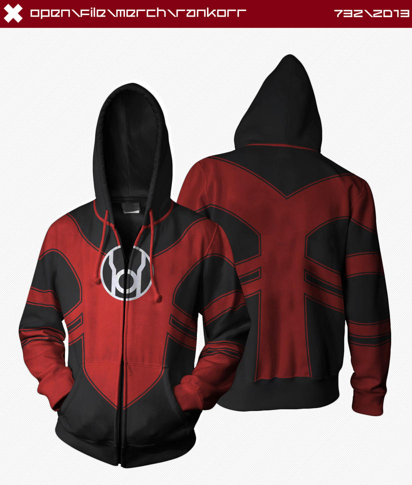 Red Lantern Hoodie by seventhirtytwo
