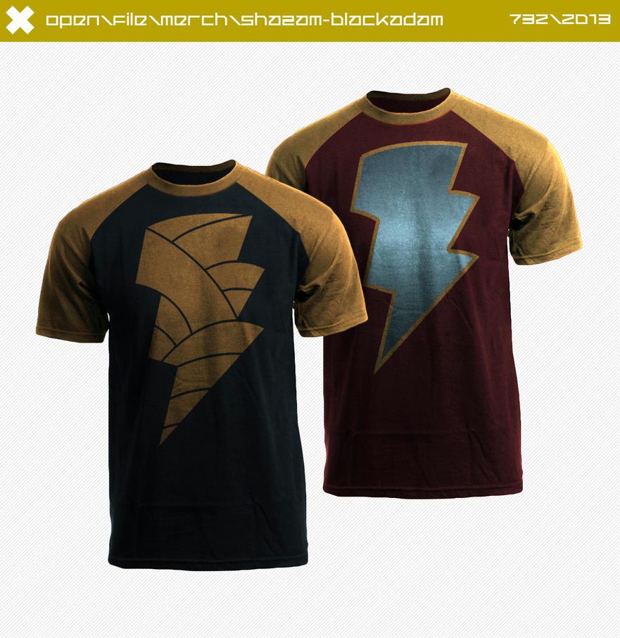 Black Adam/Shazam Shirts by seventhirtytwo