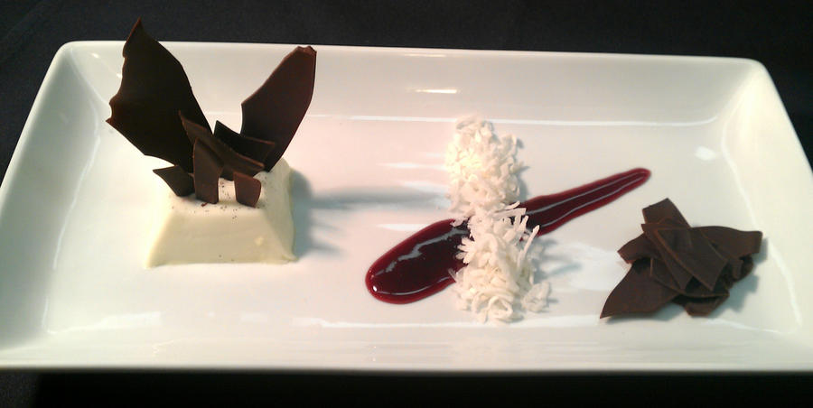 Panna Cotta, Coconut and Chocolate by PrYmO-ART