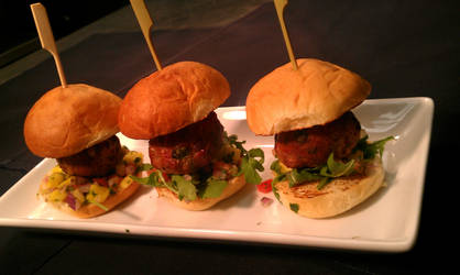 Oriental Turkey Meatball Sliders
