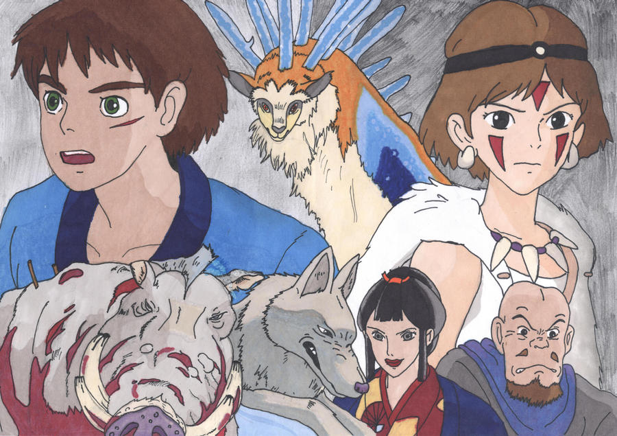Princess Mononoke Characters By Miraby On Deviantart