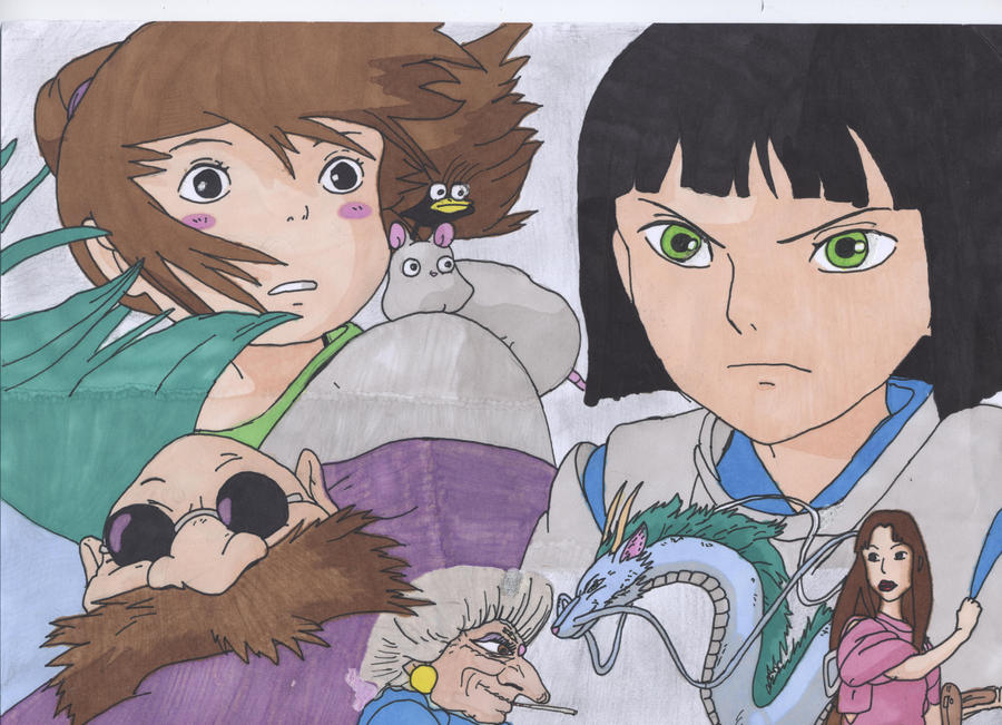 Spirited Away characters by Miraby on deviantART