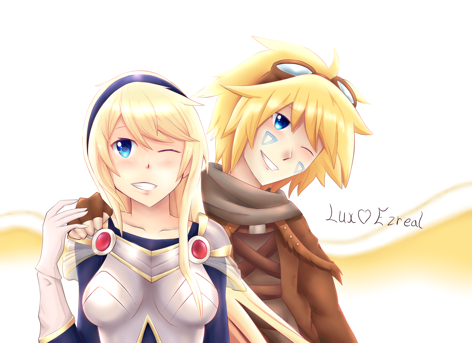 ezreal and lux relationship help