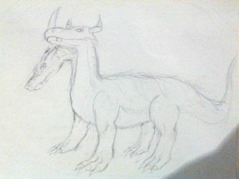 Polydramon Sketch by breaker335