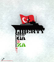 liberty ship arrived GAZA by hazeeensh
