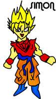 Super Saiyan Drawing With V. by simonguyen