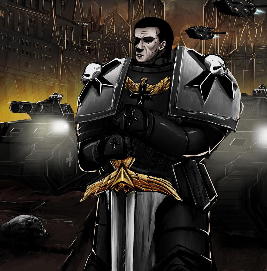 Black Templar (Fantasy Self-Portrait) by blackriderrom