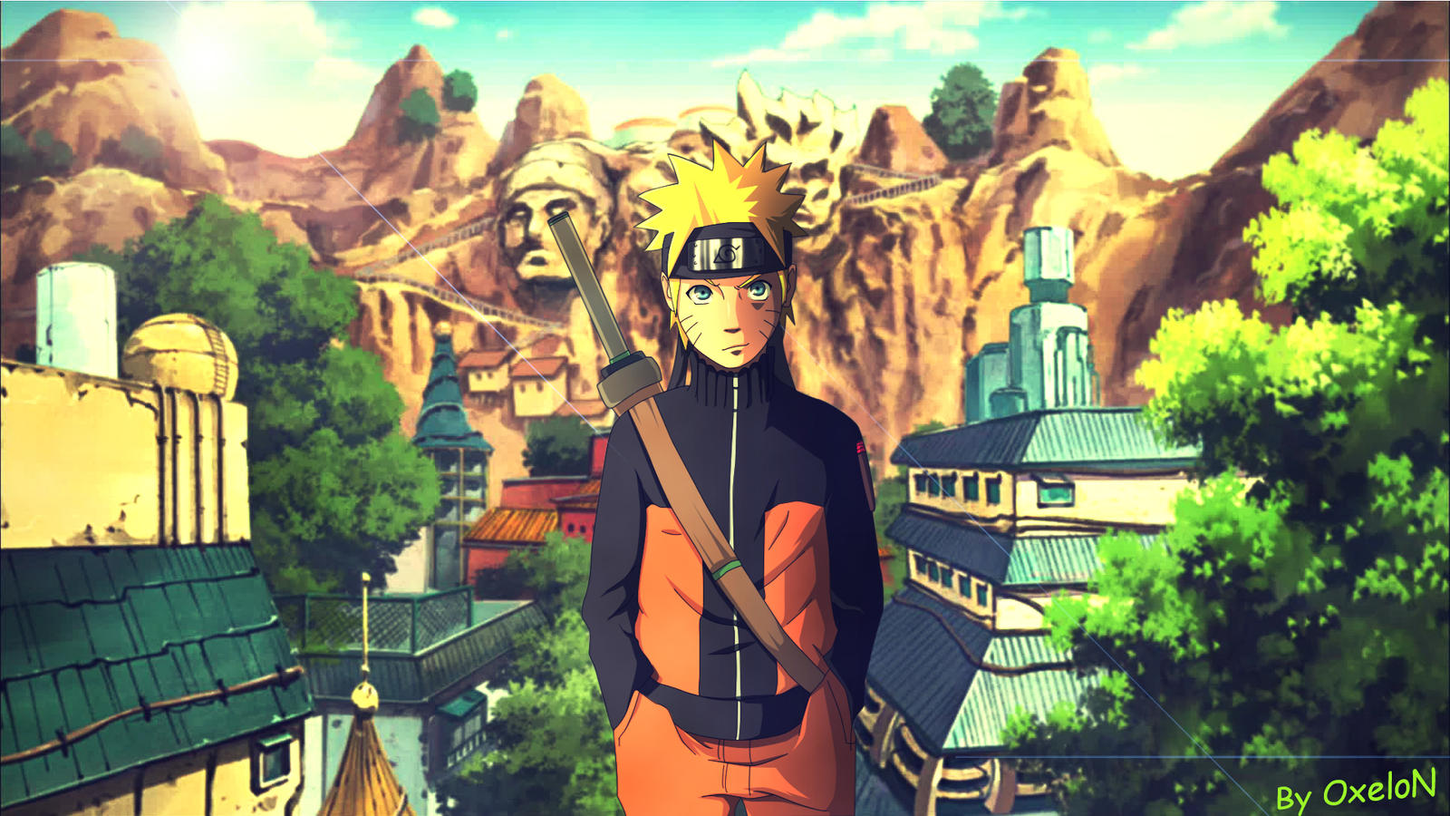 Naruto Shippuuden - Naruto Konoha (Wallpaper) by OxeloN on DeviantArt