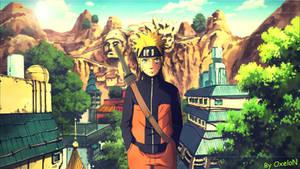 Naruto Shippuuden - Naruto Konoha (Wallpaper)