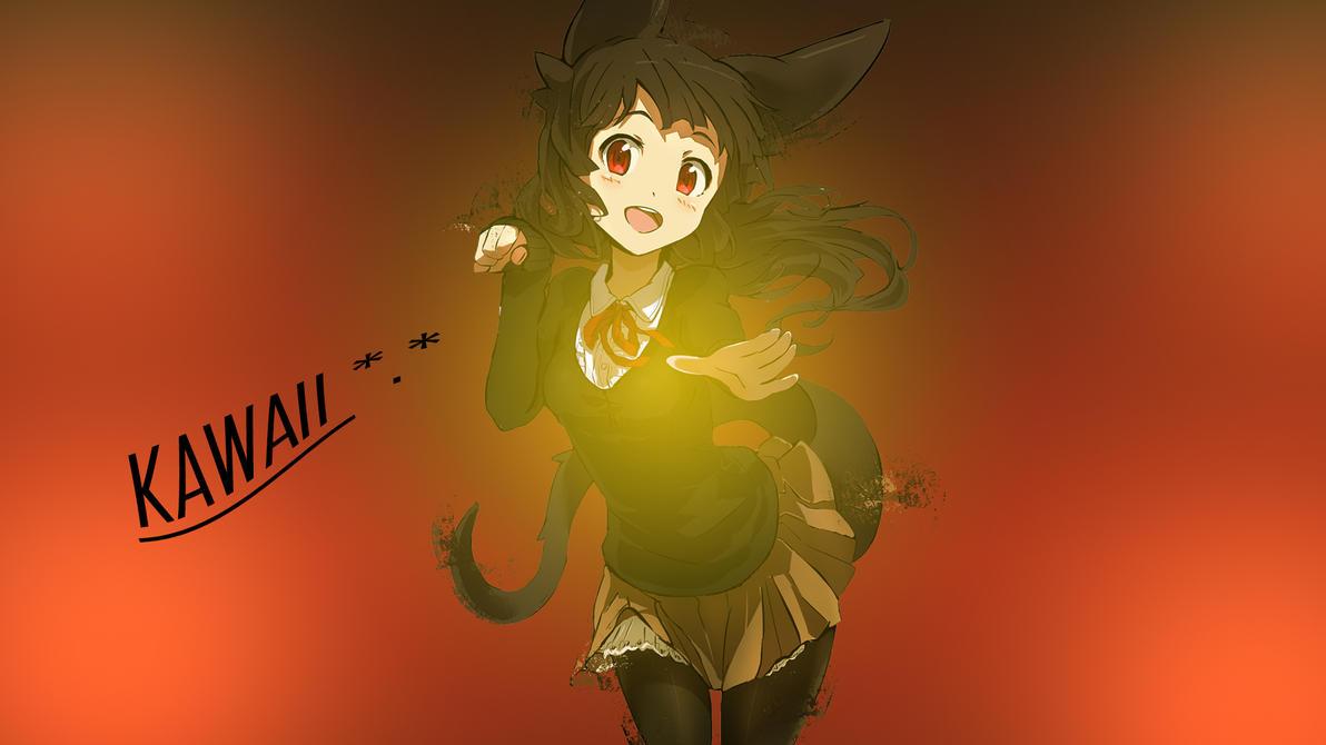 Anime Kawaii Girl (Wallpaper) by OxeloN