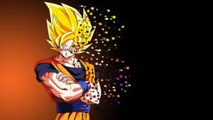 Son Goku - Pixel Explosion (Wallpaper)