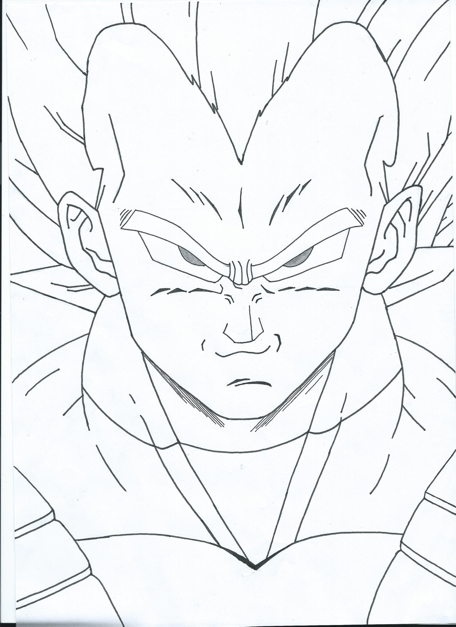 Dragon Ball Z Vegeta Drawing By Oxelon On Deviantart