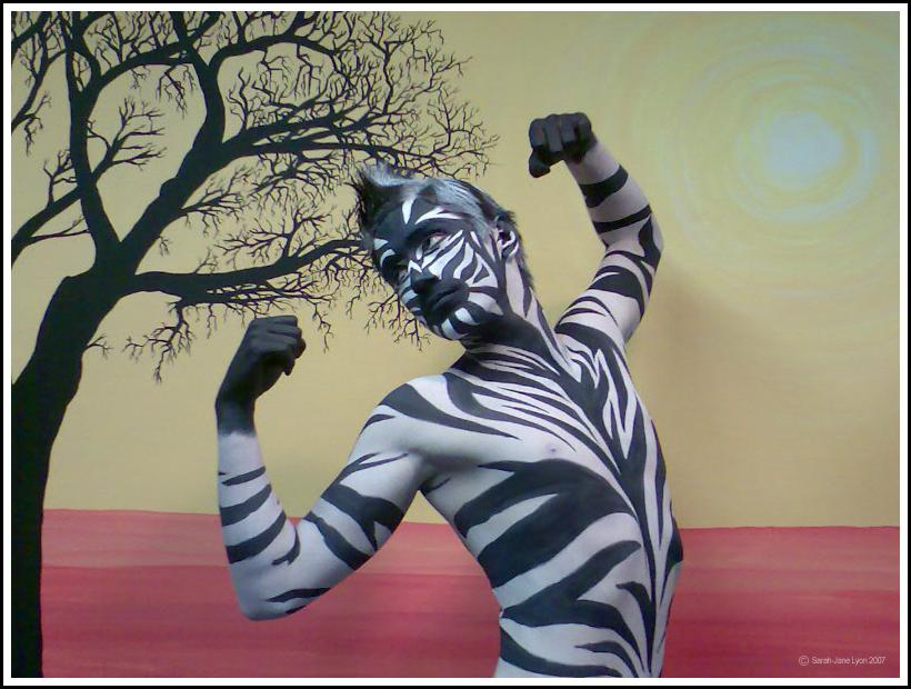 Zebra Body Art By 1lonelyangel On Deviantart