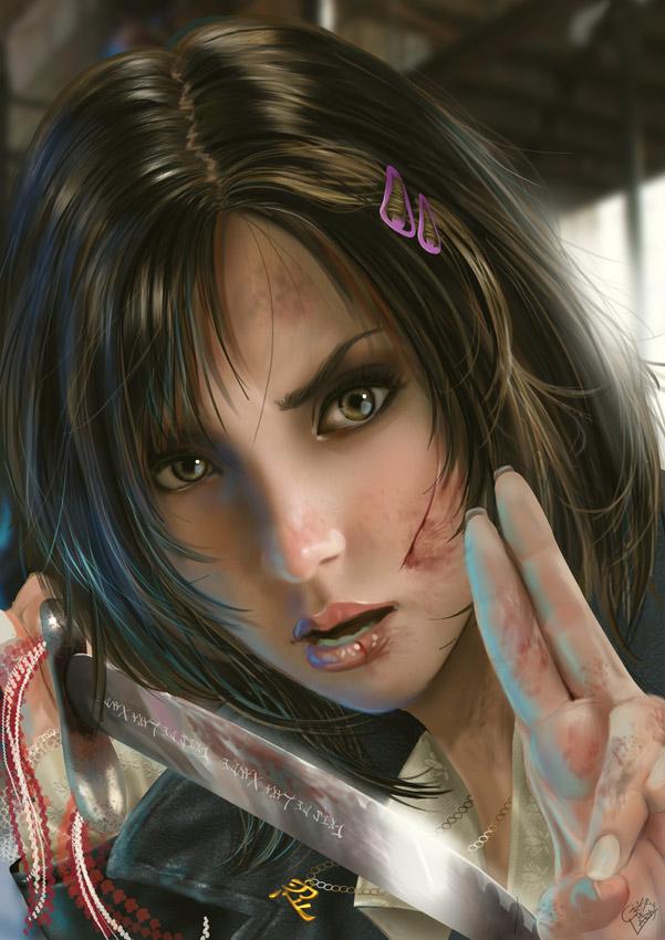 Portrait-Girl by CrisDelaraArt