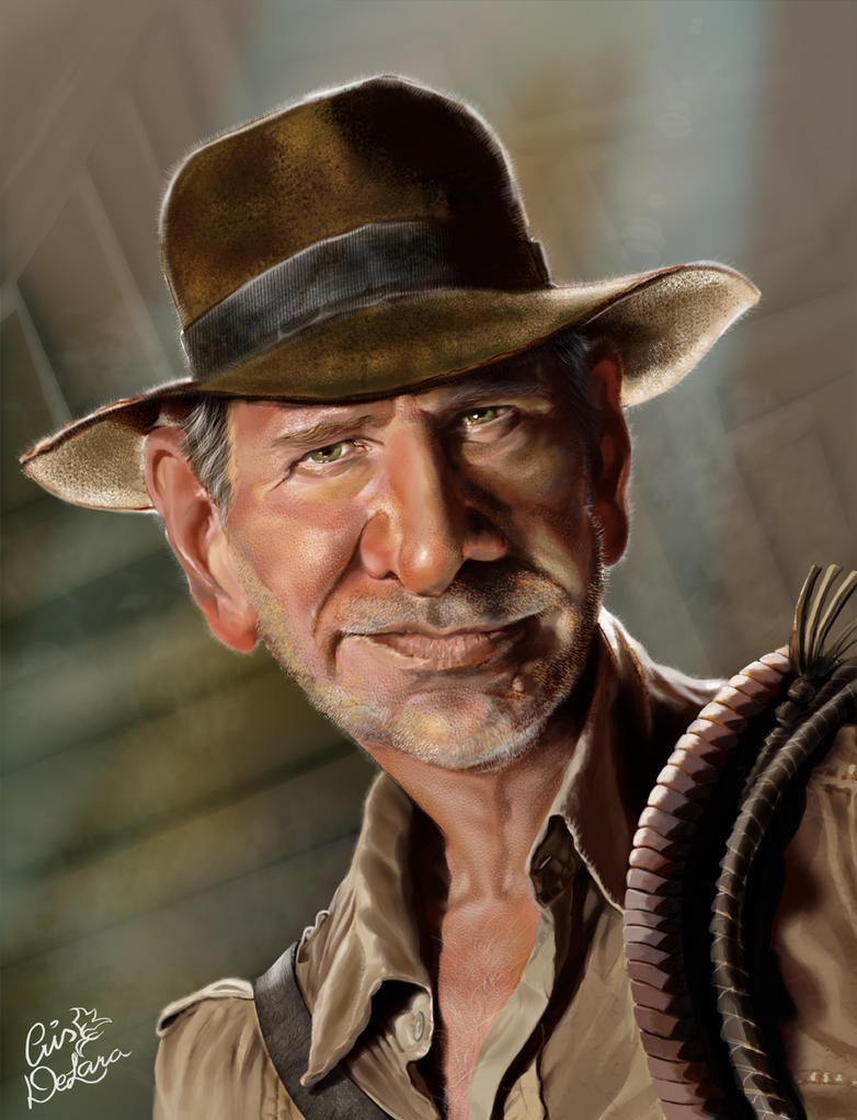 Dr. Jones Caricature by CrisDelaraArt