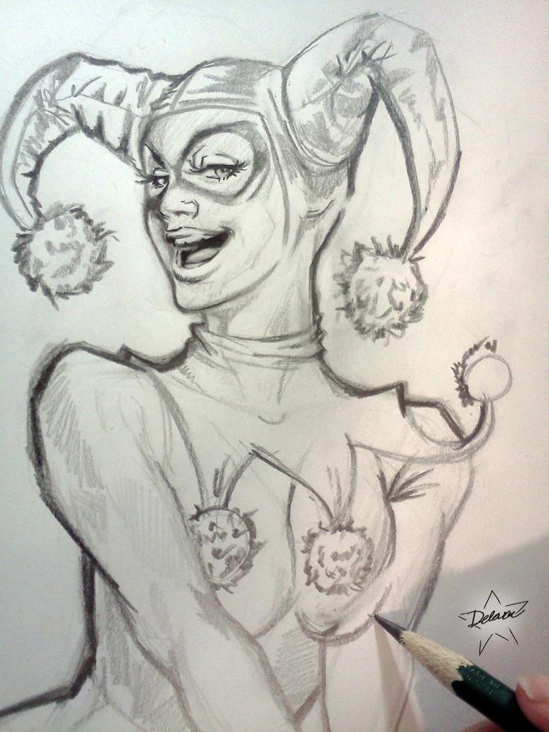 Drawing Happy by CrisDelaraArt
