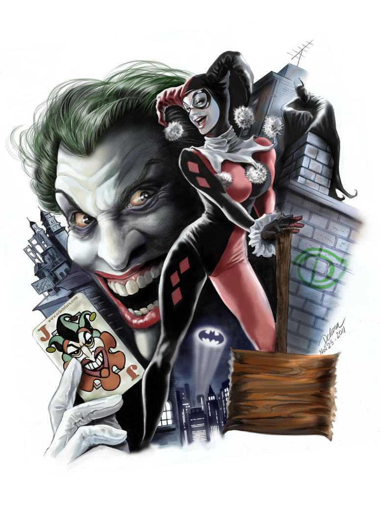 Harley_Joker_Painted by CrisDelaraArt