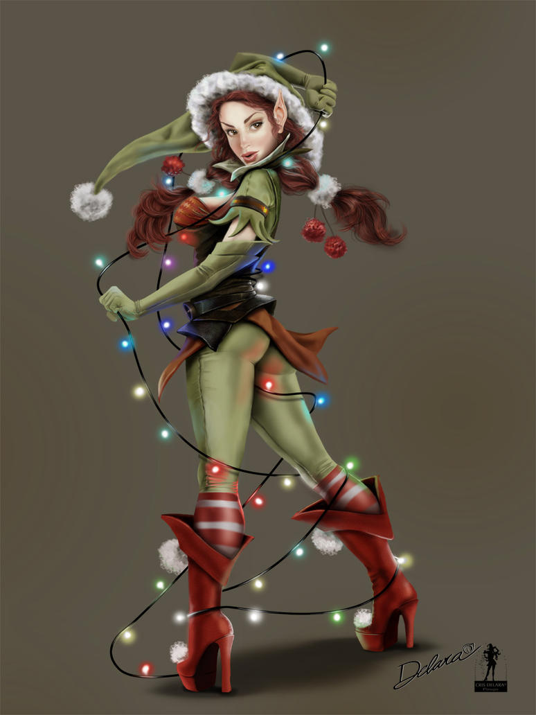Elf_lights_Painted by CrisDelaraArt