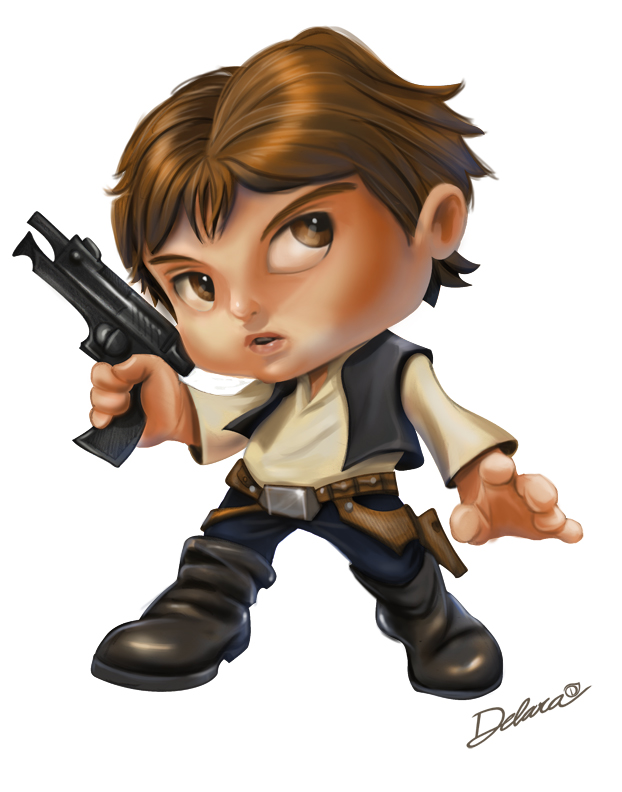 Han Solo by CrisDelaraArt