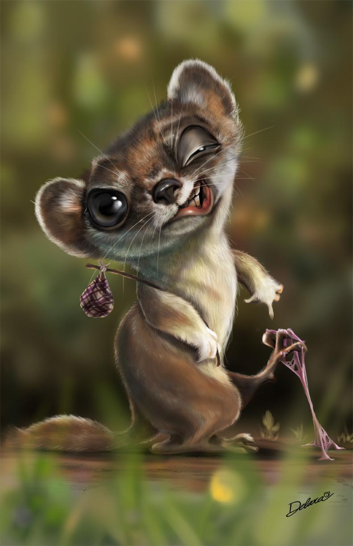 Weasel Character by CrisDelaraArt