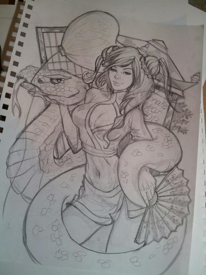 2013ValentinesDay sketch01 by CrisDelaraArt