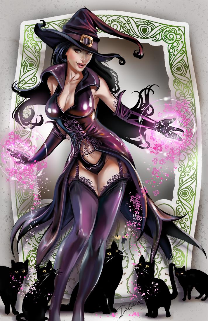 Purple_Witch by CrisDelaraArt