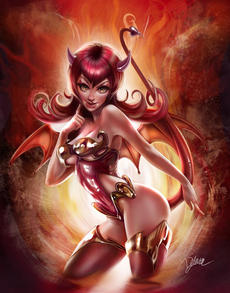 DevilPinup by CrisDelaraArt