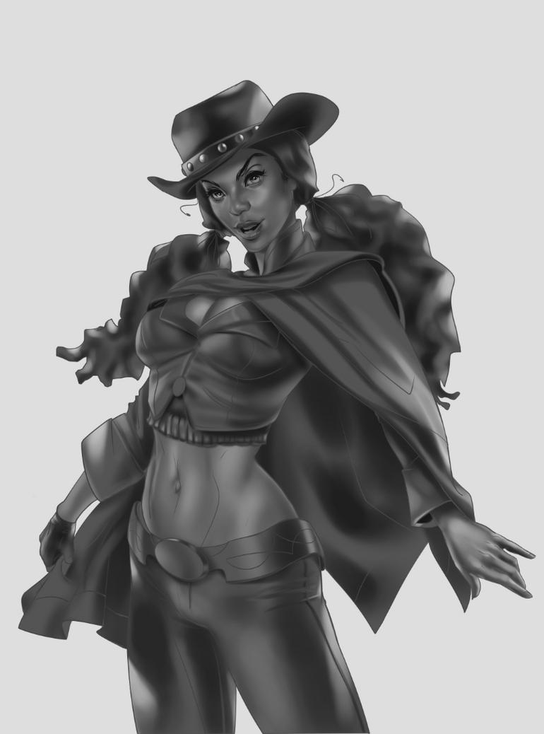 Cowgirl#2 by CrisDelaraArt