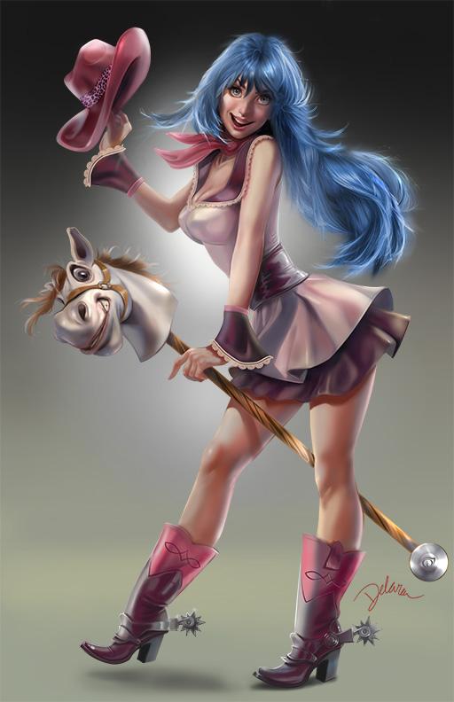 Pinup CowGirl look3 by CrisDelaraArt