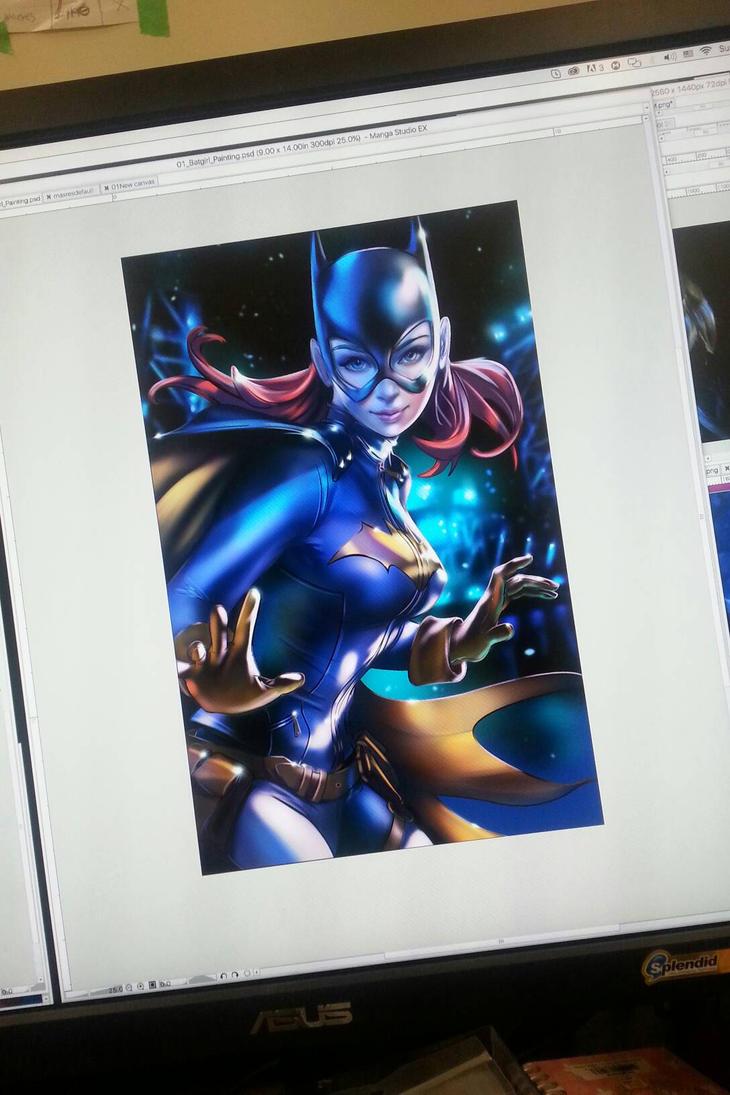 Batgirl Fanart by CrisDelaraArt